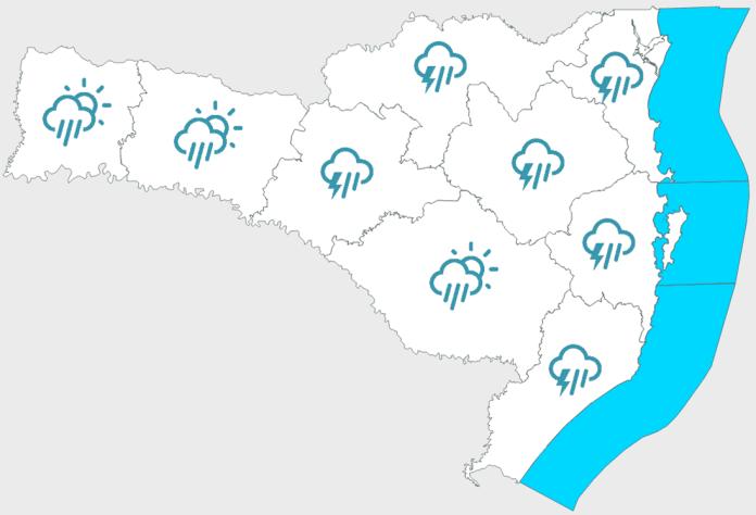Previsão do tempo sábado