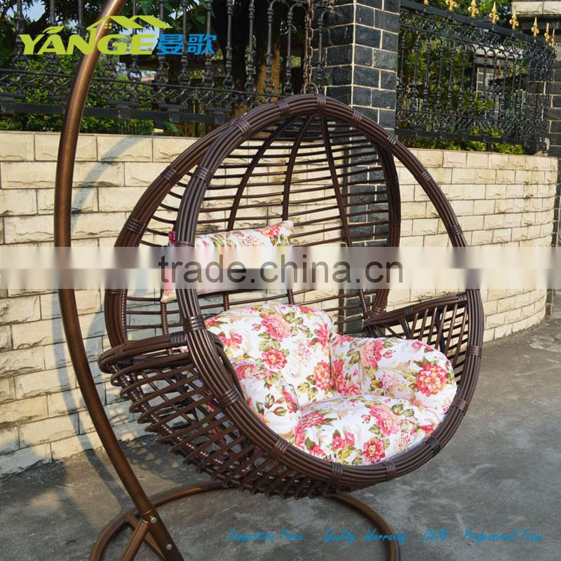 egg chair swing with stand wall hugger recliner canada rattan hanging round of