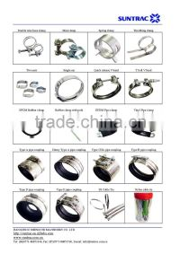 P type hose clamp / pipe clamp fixed with rubber support ...