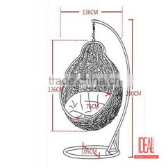 Swing Chair Drawing Chase Lounge Chairs Outdoor Egg Patio Garden Living Room Hanging Rattan