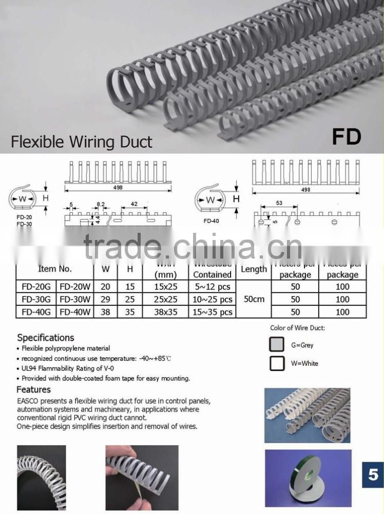 PVC Flat Trunking Duct Cable Trunking Slotted Wiring