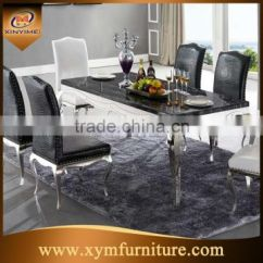Steel Chair Dining Table Square And Chairs Modern Royal Marble Stainless Design For Banquet Hall Of From China Suppliers 134522919