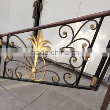 Wholesale Outdoor Wrought Iron Stair Railing Stairway Handrail | Outdoor Iron Stair Railing | Porch | Iron Pipe | Commercial | Galvanized Iron | Redwood