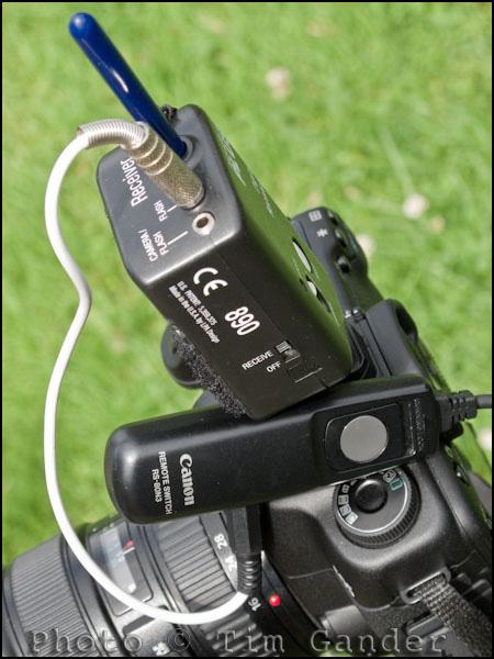 Pocket Wizard on Canon camera