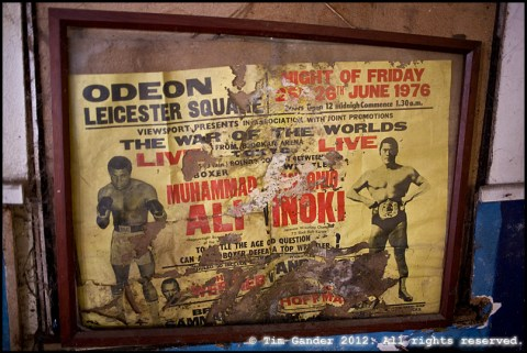 Old boxing poster in the former Frome ABC