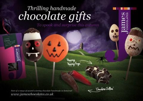 Halloween chocolate lollies