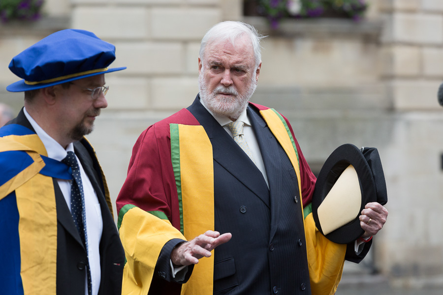 29010 28/06/2016 Image from University of Bath Graduation Ceremony 3, Bath Abbey. John Cleese (pictured during the procession from the Guildhall to the abbey) receives an honorary degree from University of Bath.