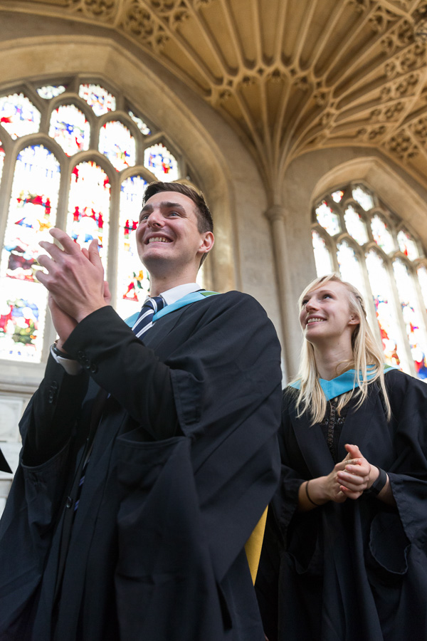 29/06/2016 Image from University of Bath Graduation Ceremony 8, Bath Abbey. Students, familes and friends gather at Bath Abbey to celebrate graduations.