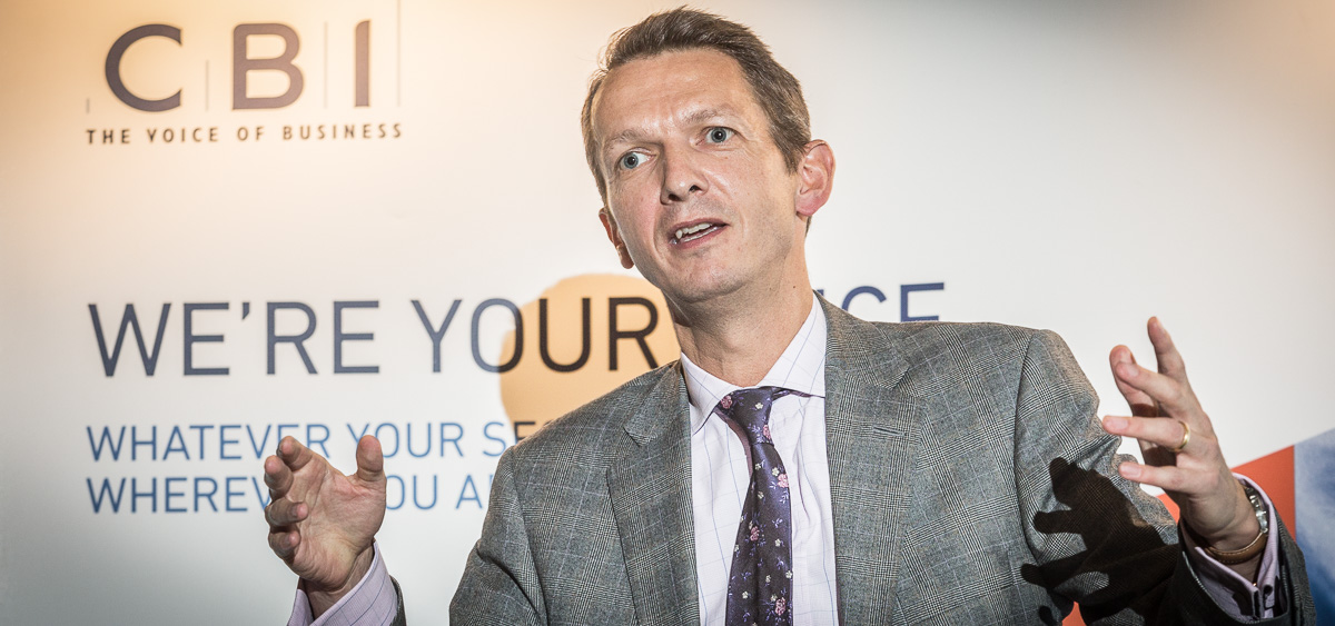 Chief economist of the Bank of England Andy Haldane speaks at a CBI dinner in Bath in 2014.