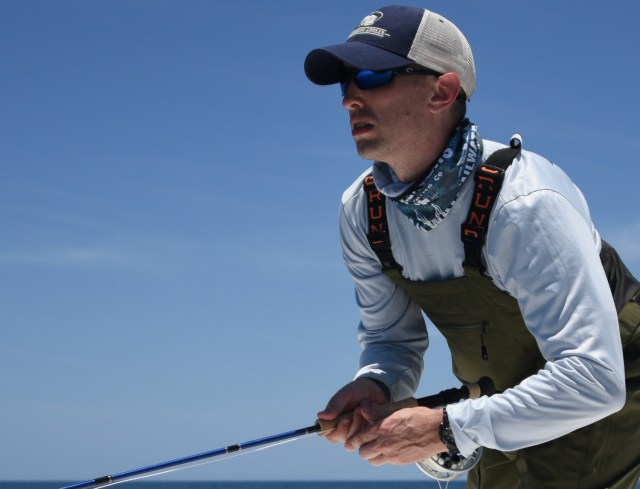 Offshore albacore fly fishing