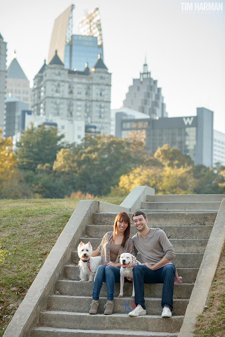 Brandon and Kim  fall engagement shoot at Piedmont Park
