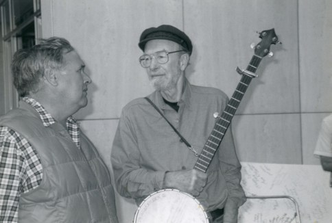Tim Henderson and Pete Seeger