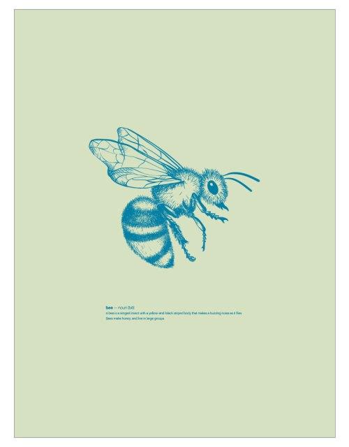 timhenning-bee-III-30x40cm-lightgreen