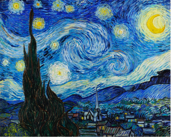 The Starry Night (1889) by Vincent Van Gogh