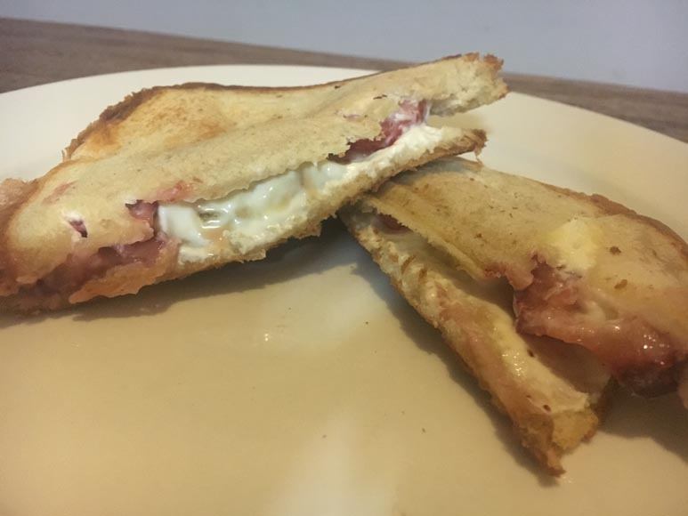 cream cheese strawberry honey toasted sandwich