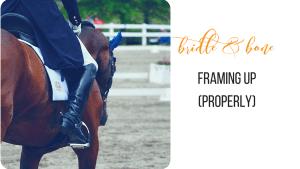Framing Up Horses
