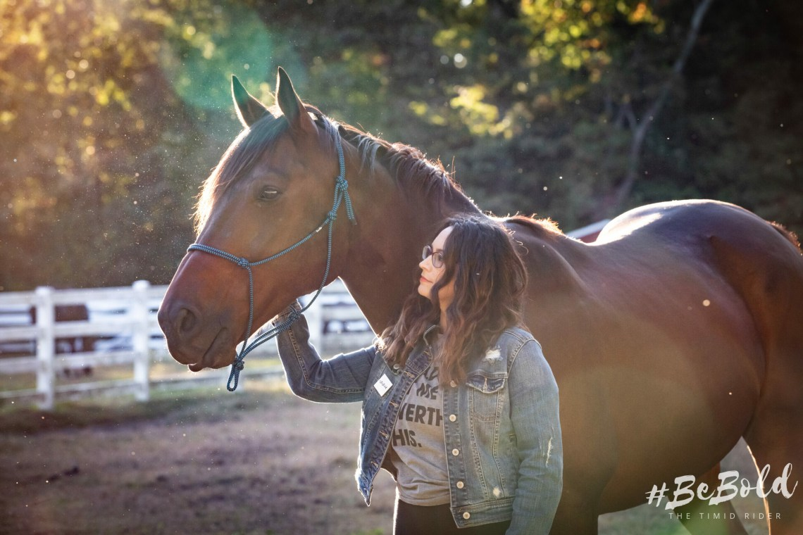 heart horse thoroughbred timid rider