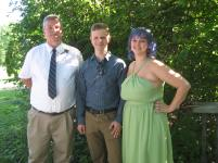 father of the bride, my brother Tom, my son Jason and the bride's sister Grace