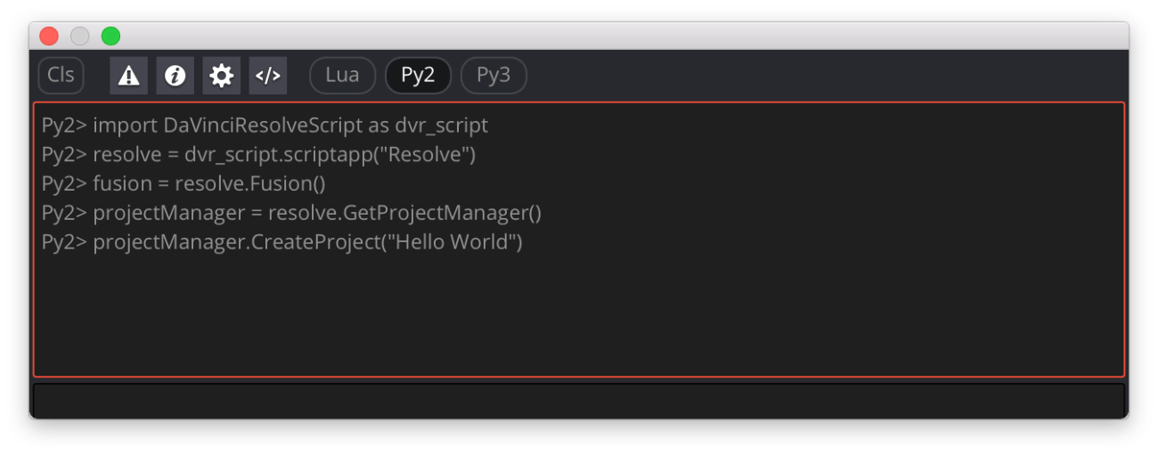 Python Scripting in DaVinci Resolve