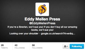 Edward Mellen Press Twitter Parody