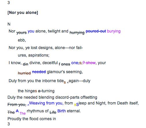 Transcription [Nor you alone]
