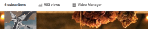 The Video Manager link is right above your banner and profile images.