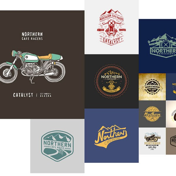 3 logo design options