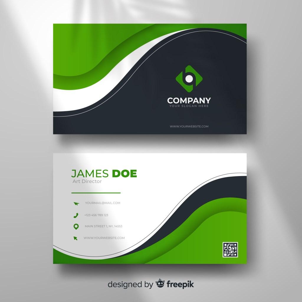 modern green business card template