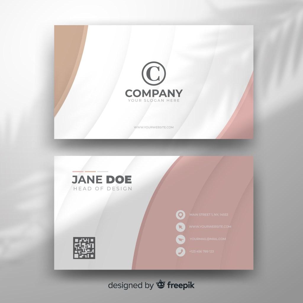 free feminine business card template