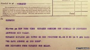 titanic distress signal
