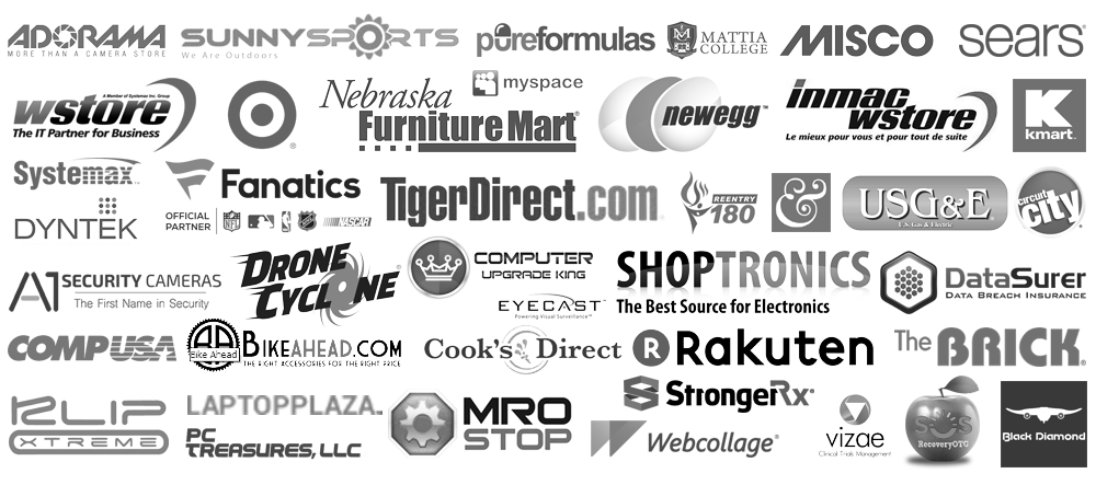 Current & Recent Past Clients of Tim McGuinness, Ph.D. & Company - Systemax TigerDirect Sears/KMart Adorama SunnySports NebraskaFurnitureMart MiscoUK WStore PureFormulas & many more