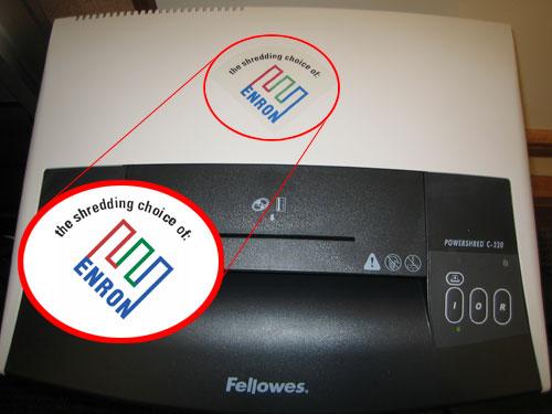 Shredding Choice of Enron.