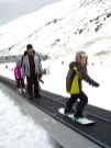 Aras is an excellent snow boarder on the magic carpet!