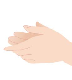 Step1:以手心稍將凝膠溫熱後,抹全臉