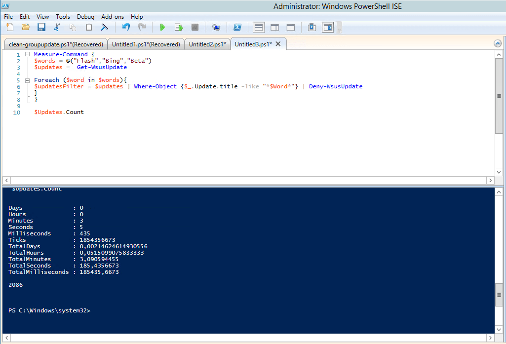 WSUS and Powershell – Maintenance Script to decline updates with