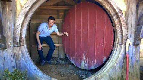 Andres in a Hobbit hole