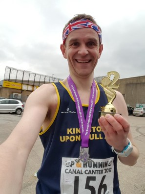 Tim and trophy @ Canal Canter Half