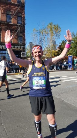 Tim running NYC marathon 2018