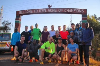 Tim and group in Iten, Kenya 2019