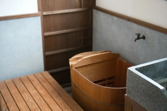 Traditionelles japanisches Bad.