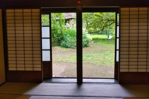 Traditionelle japanische Schiebetüren.