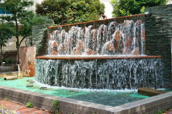 Brunnen in Katsushika City.