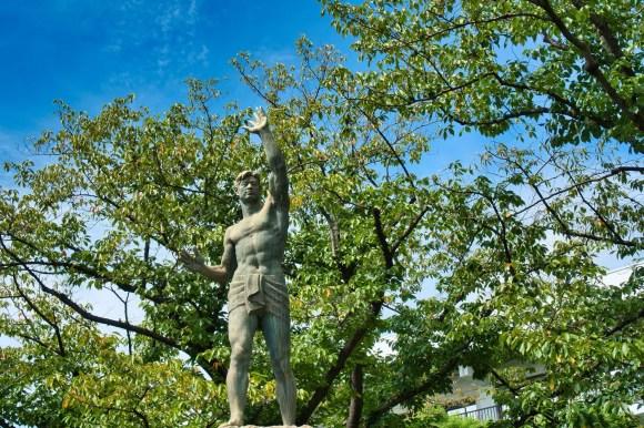 Statue in Katsushika City.