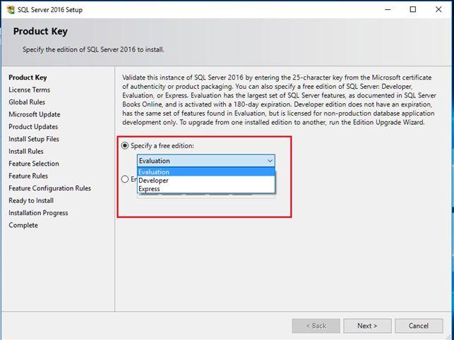 Nhập Key SQL Server