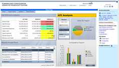 Figure 2 Xcelsius dashboard  within SAP BO Planning and Consolidation