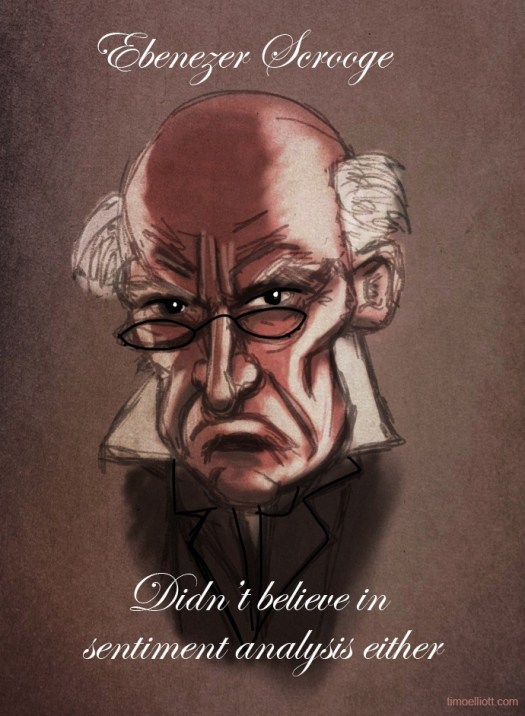 scrooge didn't believe in sentiment analysis