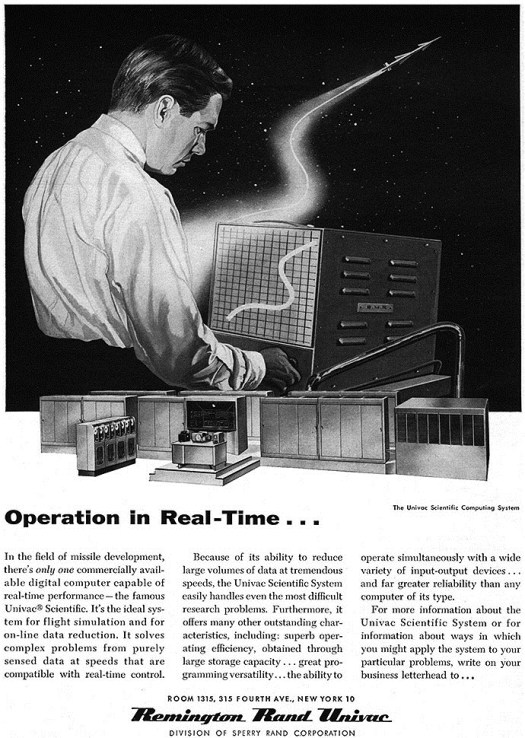 ad for old computer 1956 Univac 690px