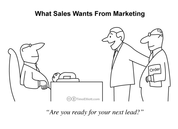 what sales wants from marketing