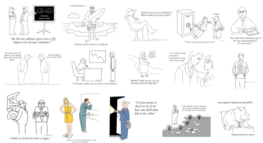 thumbnails of analytic cartoons