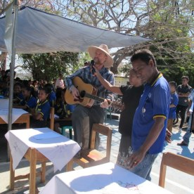 The teachers who organized it demanded that I sing the SESIM hymn.